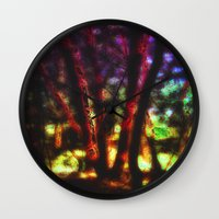 magic the gathering Wall Clocks featuring SACRED TREES - THE GATHERING by mimulux