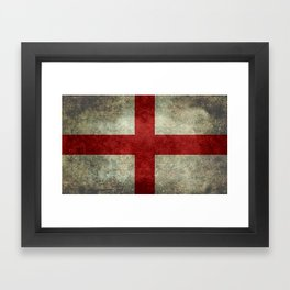 Flag of England (St. George's Cross) Vintage retro style Framed Art Print