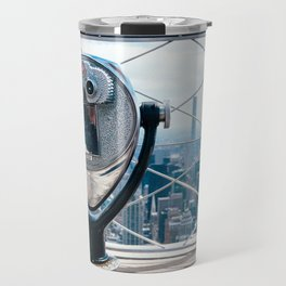 New York Skyline from Empire State Building Travel Mug