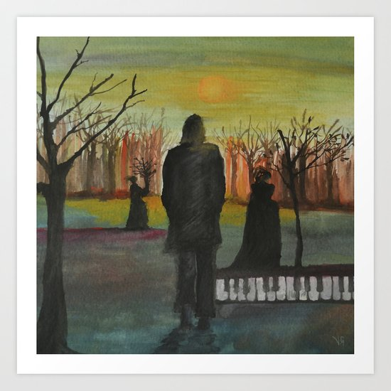 Track 2: The path of the righteous man.   Art Print