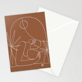 Dreamers no.4 (terracotta) Stationery Cards