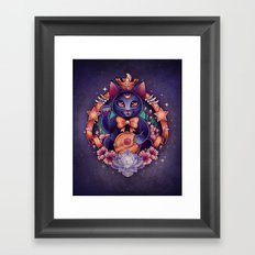 Maneki Luna Framed Art Print
