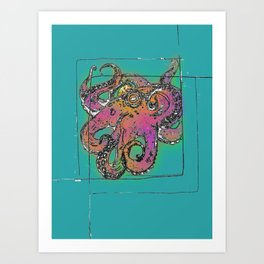 Octocube Art Print