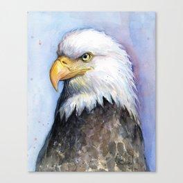 Bald Eagle Watercolor Bird Wildlife Animals Canvas Print