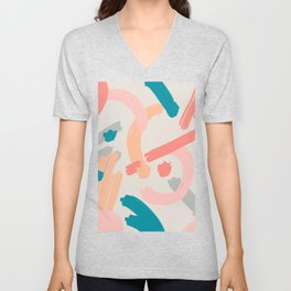 Abstraction. Series: Oil Paint Smears. Culinary fantasy. Dessert. Unisex V-Neck