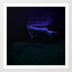 Rising To The Top : Deep Blue Water Photograph Art Print