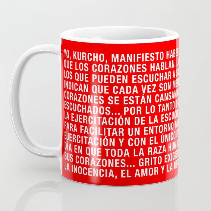 Manifiesto Kurcho - Español Coffee Mug