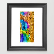 Technicolored Dream Plank Framed Art Print