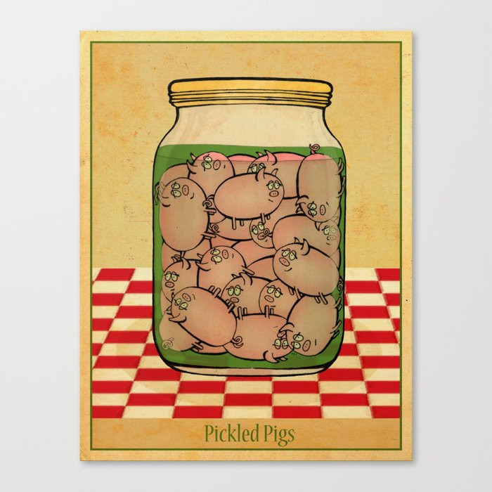 Pickled Pig Revisited Canvas Print
