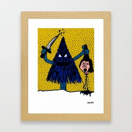 CLEVER-MEAN-EVERGREEN. Framed Art Print