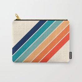 Karanda - 70s Style Classic Retro Stripes Carry-All Pouch