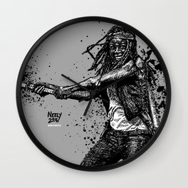 Michonne as played by Danai Gurira on AMC's The Walking Dead Wall Clock