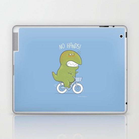 T-Rex tries biking Laptop & iPad Skin