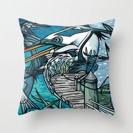 The Chesapeake Bay Blues Throw Pillow