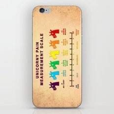 Unicorny Pain Measurement Scale iPhone & iPod Skin