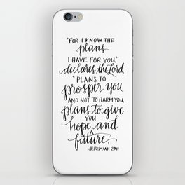 I Know the Plans - Jeremiah 29:11 iPhone Skin