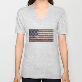 United States of America Flag 10:19 G-spec Vintage Unisex V-Neck