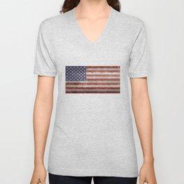 United States of America Flag 10:19 G-spec Vintage Unisex V-Neck