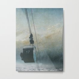 GONDOLA INTO THE SKY Metal Print