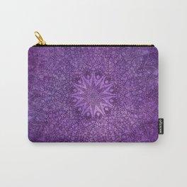 star mandala deep in the dark purple dream Carry-All Pouch