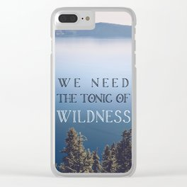 The Tonic of Wildness Clear iPhone Case