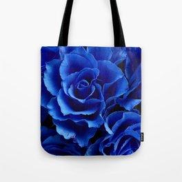 Blue Roses Flowers Plant Romance Tote Bag