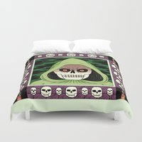 death Duvet Covers featuring Death  by Jack Teagle