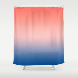 Living Coral Millennial Pink Princess Blue Ombre Pattern Trendy Colors of Year 2019 Shower Curtain