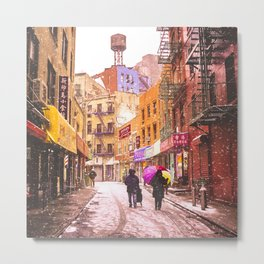 The Colors of Winter - New York City Metal Print