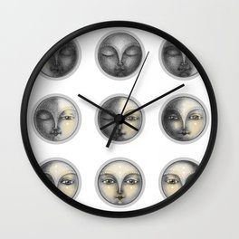 moon phases and romanticism Wall Clock