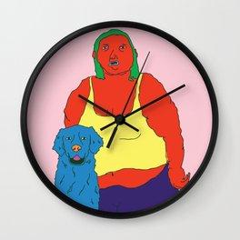 Beautiful lady Wall Clock