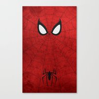 spider man Canvas Prints featuring Spider-Man by theLinC