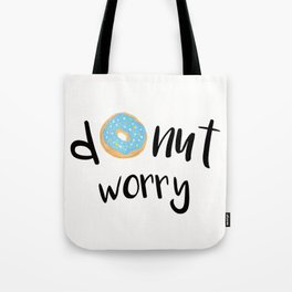 Donut Worry Blue Tote Bag