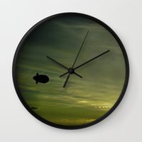 led zeppelin Wall Clocks featuring Zeppelin by ArtBite