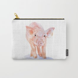 Pig Watercolor Painting Carry-All Pouch