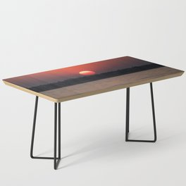 Really red sun Coffee Table