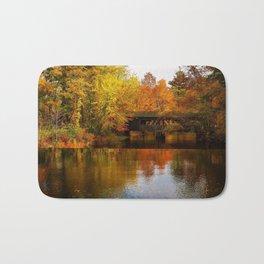 Massachusetts Covered Bridge in Autumn Bath Mat