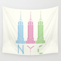 nyc Wall Tapestries featuring NYC by ANIMALS + BLACK