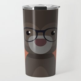 Hipster Bear Travel Mug