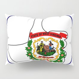 Thumbs Up West Virginia Pillow Sham