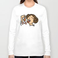 leia Long Sleeve T-shirts featuring Leia by JSCulquiArt