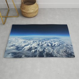 Pyrenees Mountains, Italy Ariel Photographic View Rug