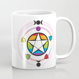 LGBTQ Elemental Pentagram Coffee Mug