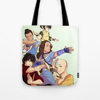 avatar the last airbender Tote Bags featuring avatar: the last airbender by Anyeka