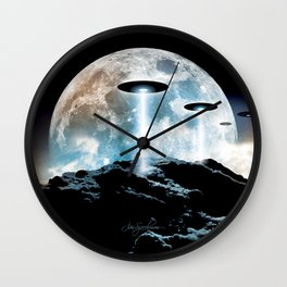 The Seeding (UFO Moon Mountain) Wall Clock
