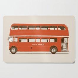 Red London Bus Cutting Board