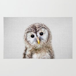Baby Owl - Colorful Rug