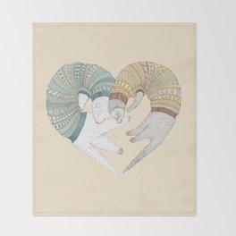 Ferret Sleep Love Throw Blanket