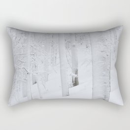 Snow covered forest winter wonderland Rectangular Pillow