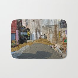 CONSTRUCTION SITE POKHARA NEPAL Bath Mat